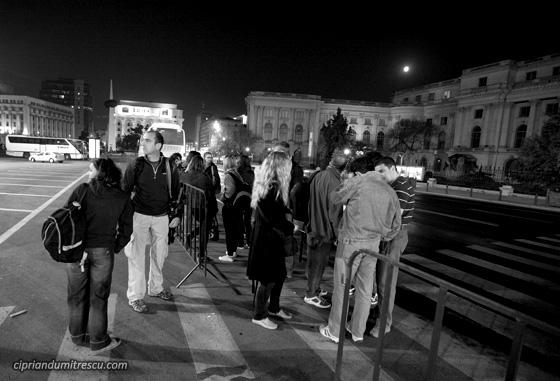 Adunare in Piata Revolutiei