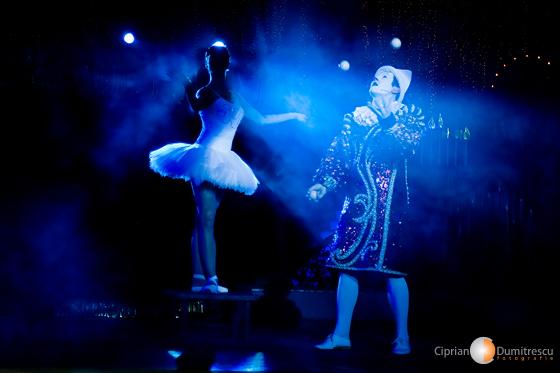 Balerina si clovnul de la circ