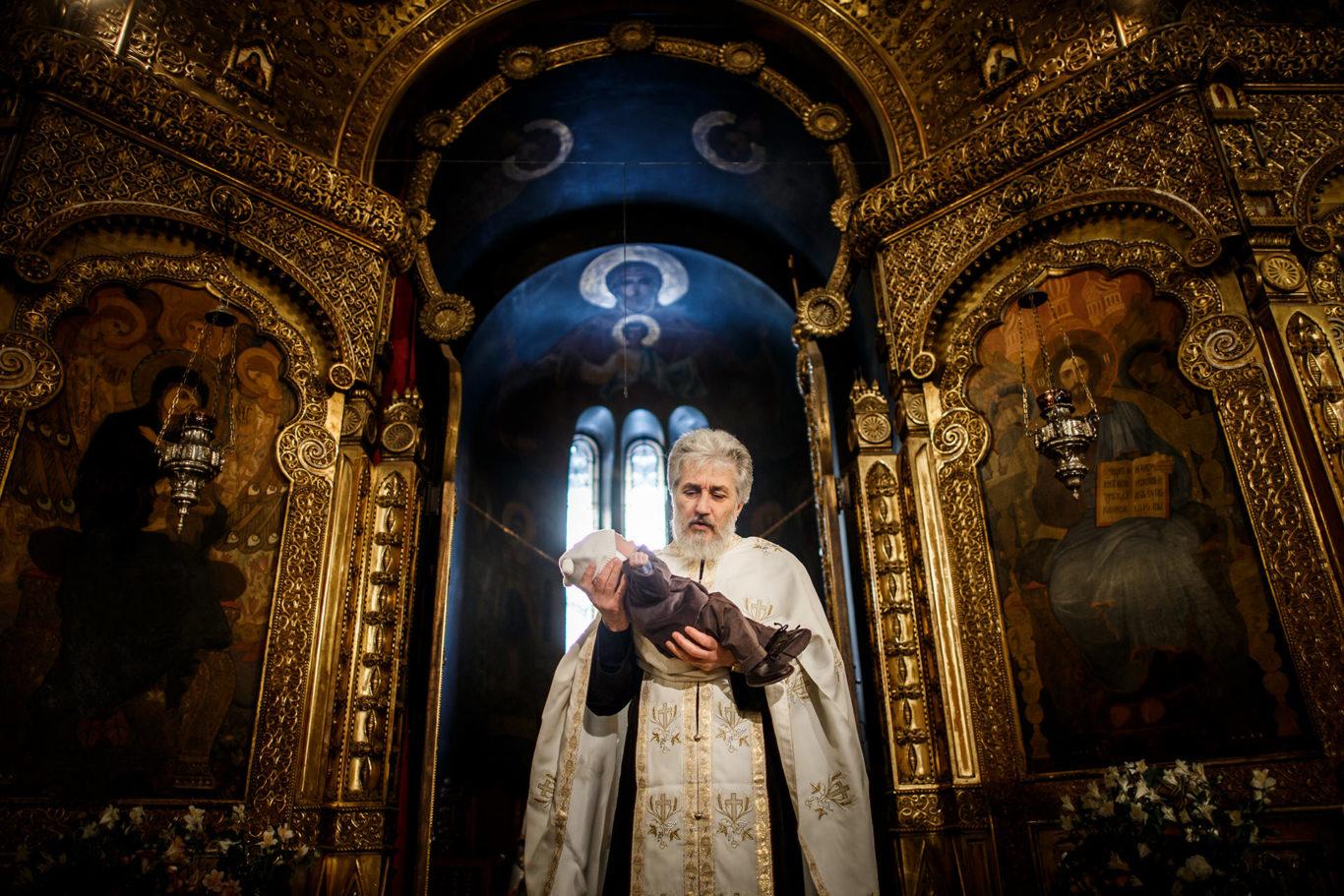 Botez la Biserica Rusa - Ioan fotograf Ciprian Dumitrescu