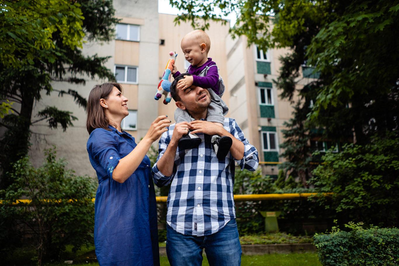 Fotografii de familie in oras cu the