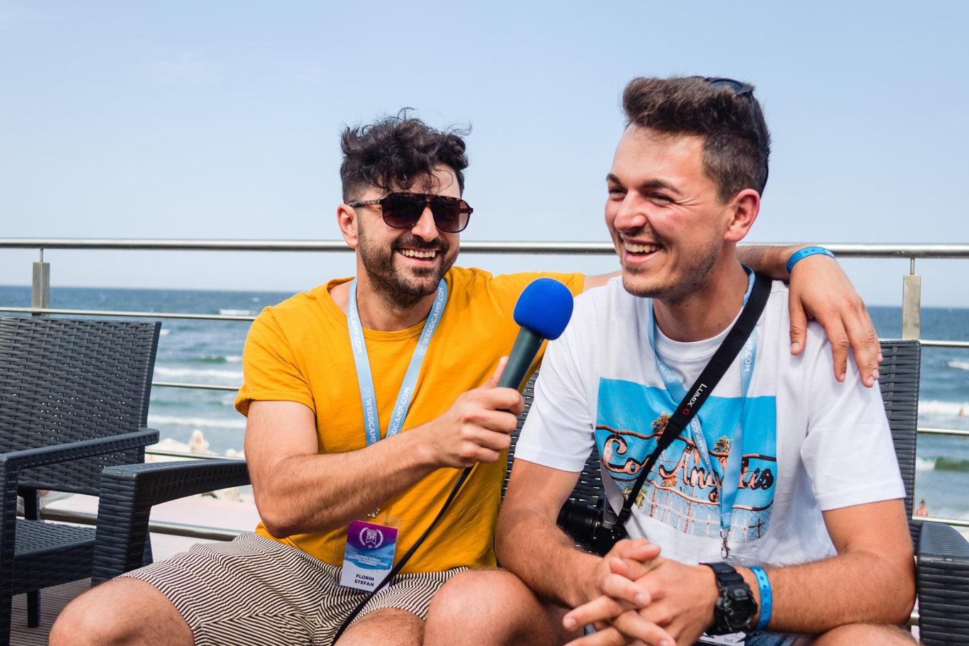 Florin Stefan reporter la Weddcamp