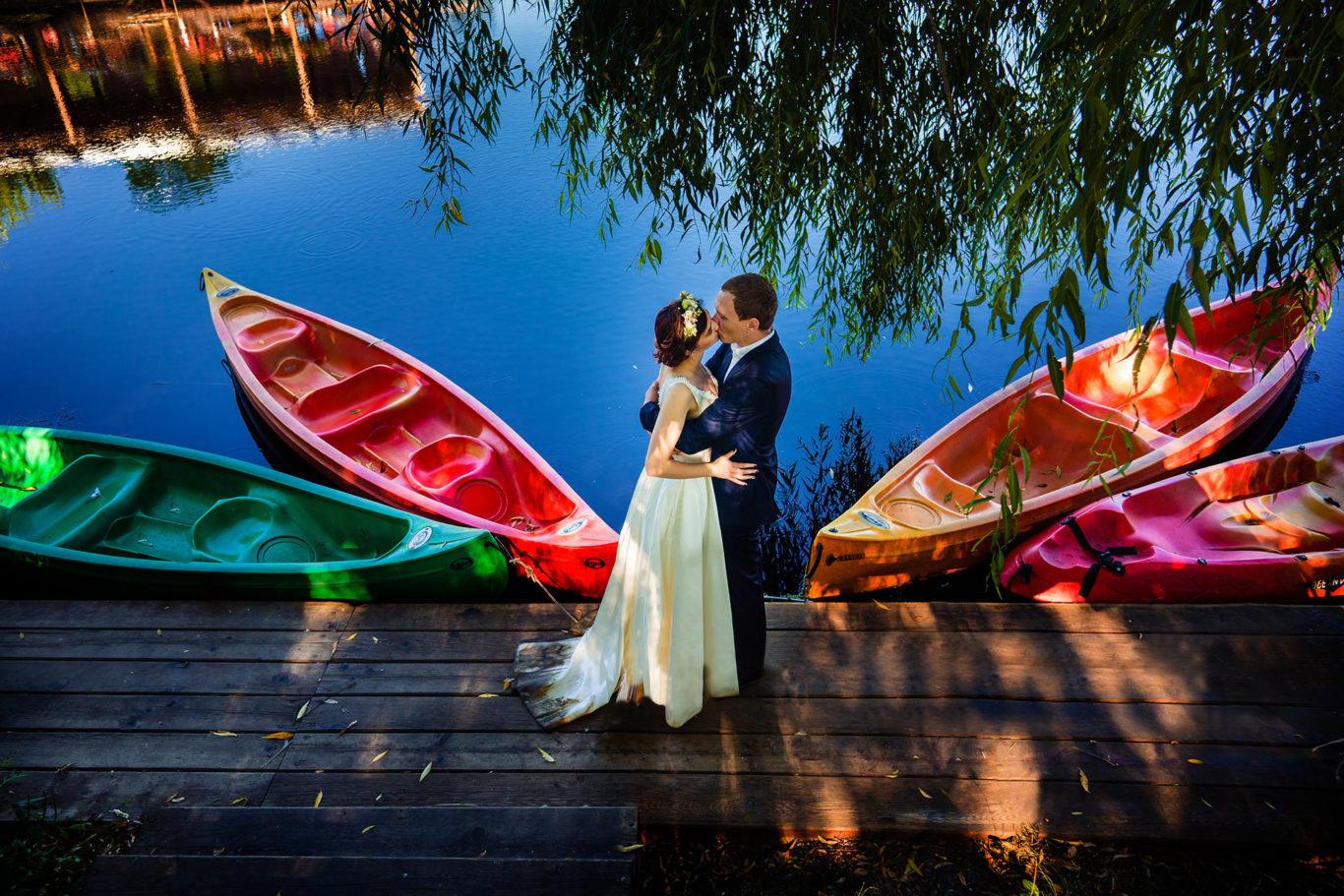 Dragoste in culori la Comana - sesiune foto dupa nunta