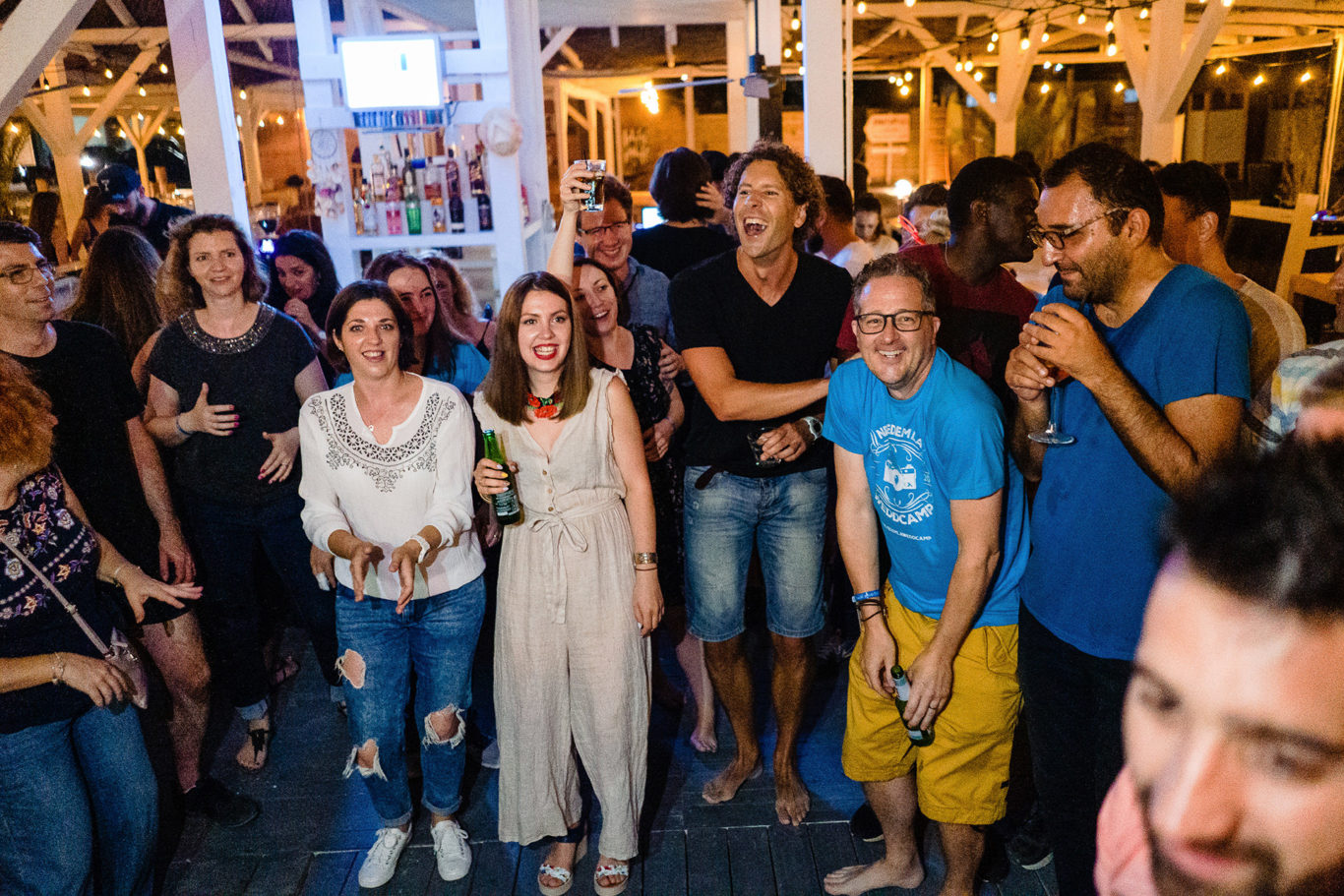 Happy people @ Weddcamp
